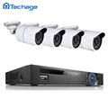 Techage 4CH POE NVR 1080P PoE CCTV System Set 4PCS 720P 1MP Waterproof IP Camera P2P