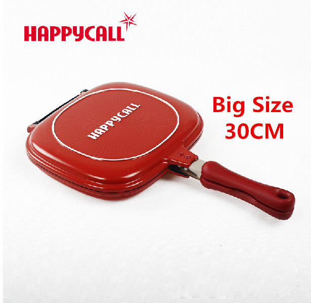 Wholesale Happycall Happy Call 30cm Fry Pan Non-stick Fryer Pan Double Side Grill Fry Pan(China (Mainland))