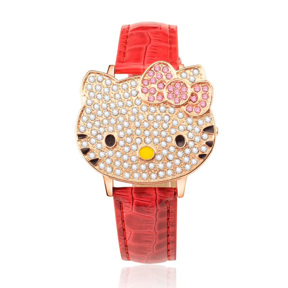 2016 новый дизайн quart движение мода здравствуйте kity часы для детей подарок