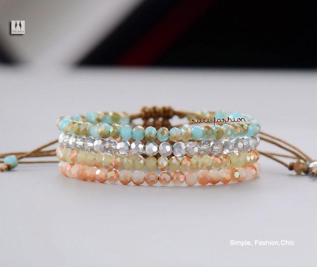 Простой браслет лучшие мода Cristal бусины регулируемый браслет старинные голливуд ...
