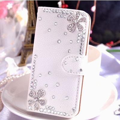 Hot New Rhinestone Leather Phone Case Cover For Samsung Galaxy I9300 S3 Galaxy S4 Case Diamond Flip Hard Phone Case 4 Style(China (Mainland))