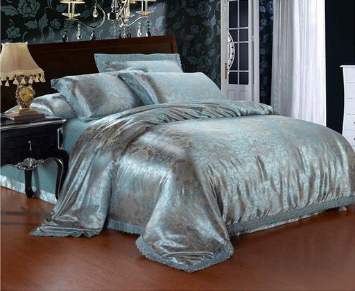 120424  free shipping  Luxurious silk 4pcs bedding set/  bedding linen