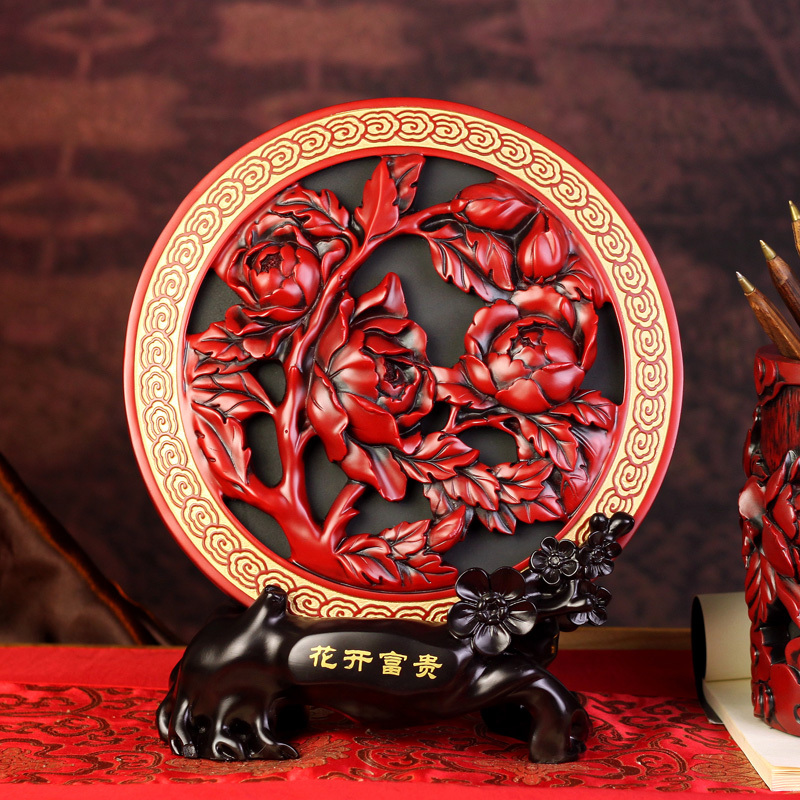 Blooping rich rustic carbon carving bookcase decoration home decoration birthday wedding gift(China (Mainland))