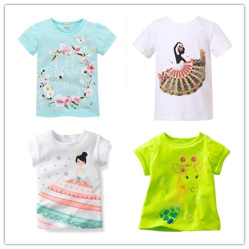Гаджет  1-6  years brand  Children T-shirt Girls t shirt tees baby Girl Short Sleeve T shirts clothes 100% Cotton Kids Summer 18 months None Детские товары