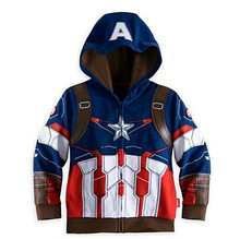 2015 spring and autumn new children's coat, European and American fashion boys hooded jacket, Superman modeling(China (Mainland))