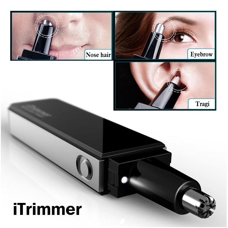 Pritech Professional Water Resistant Nose and Ear Hair Trimmer with LED Light Ultra Modern Design(China (Mainland))