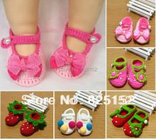 Free Shipping Fashion Newborn Baby Girls Infant Kids Children Crochet Knit Socks Crib Casual Shoes Prewalker First Walkers 0-12M(China (Mainland))