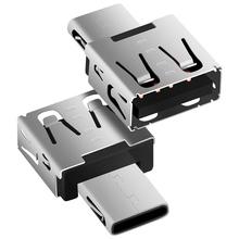 จัดส่งฟรีDMประเภท-Cอะแดปเตอร์เงินUSB CชายกับUSB2.0 Femail USB OTGแปลงสำหรับอุปกรณ์ที่มีtypecอินเตอร์เฟซ(China (Mainland))