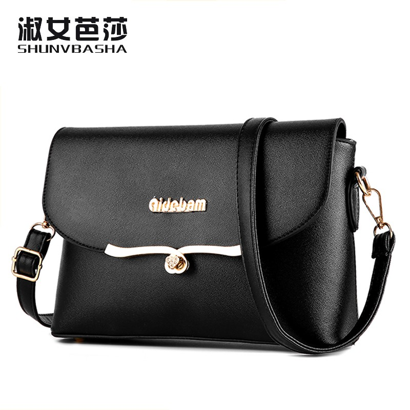 SNBS 100% Genuine leather Women handbags 2016 New version package square package fashion handbags Shoulder Messenger Handbag(China (Mainland))