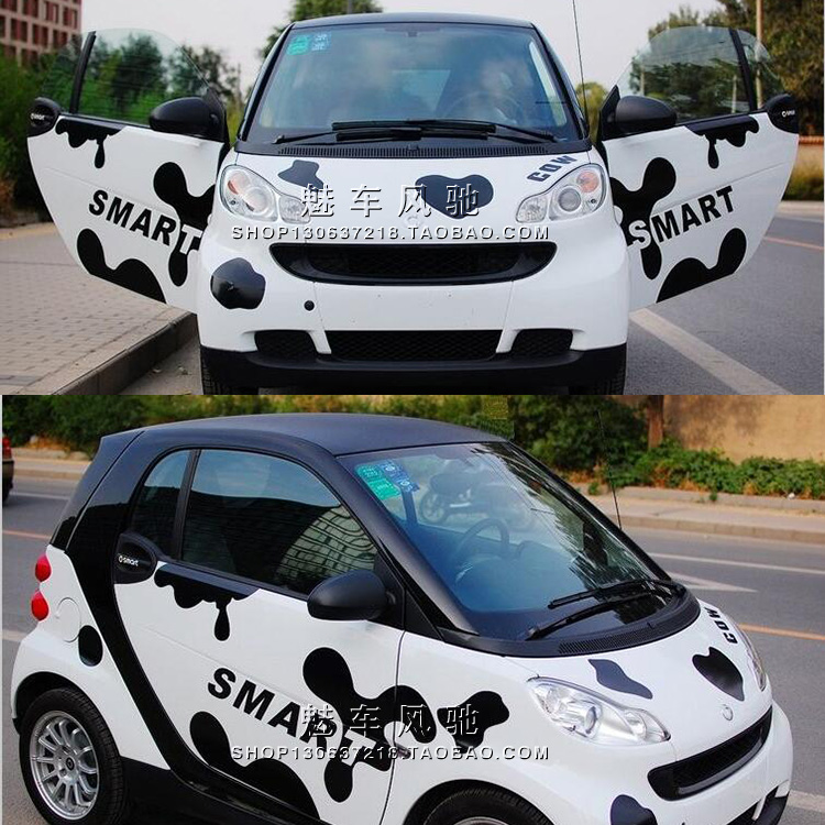 smart beetle F0 Chery MINI car stickers car stickers Lahua scratch lines in dairy cows(China (Mainland))