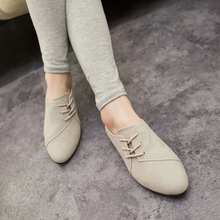 Flats Women 2016 New Women's Fashion Spring Summer Style Casual Shoes Lace-up Women Solid Suede Leather Shoes For Girls(China (Mainland))