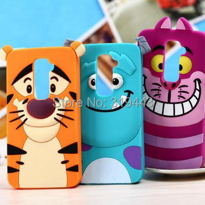 New Arriving Cute Lovely Cartoon Tiger Cat Soft Silicone Back Covers Cases LG G2 g2 Rubber Cell Phone Skins - All the Best Things store