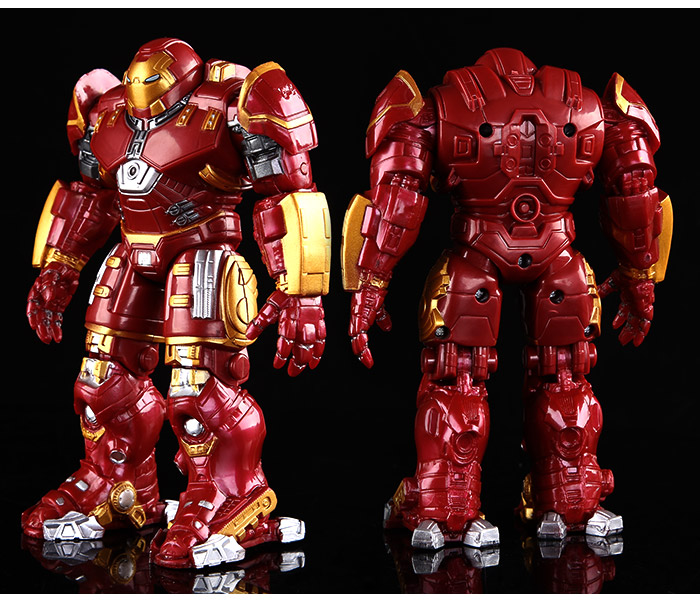 Avengers 2 Iron Man Hulkbuster Armor Joints Movable 18CM Mark With LED Light PVC Action Figure Collection Model Toy #FB(China (Mainland))