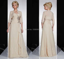 Chiffon Young Fashion Sweetheart A-Line Long Floor-length Mother of the Bridesmaid Dresses With Jacket Exquisite Mom Gowns PS45(China (Mainland))