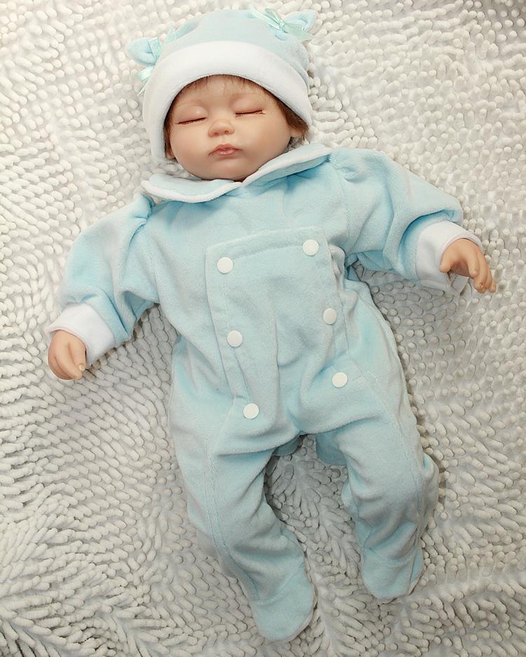 Wholesale 18 inch Reborn baby doll  Handmade safety silicone vinyl reborn baby dolls lifelike lovely girl best birthday gift