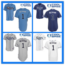 Kids Tampa Bay Rays Jersey #1 Tim Beckham Jersey Youth Authentic Stitched Cool Base Baseball High Quality Jerseys(China (Mainland))