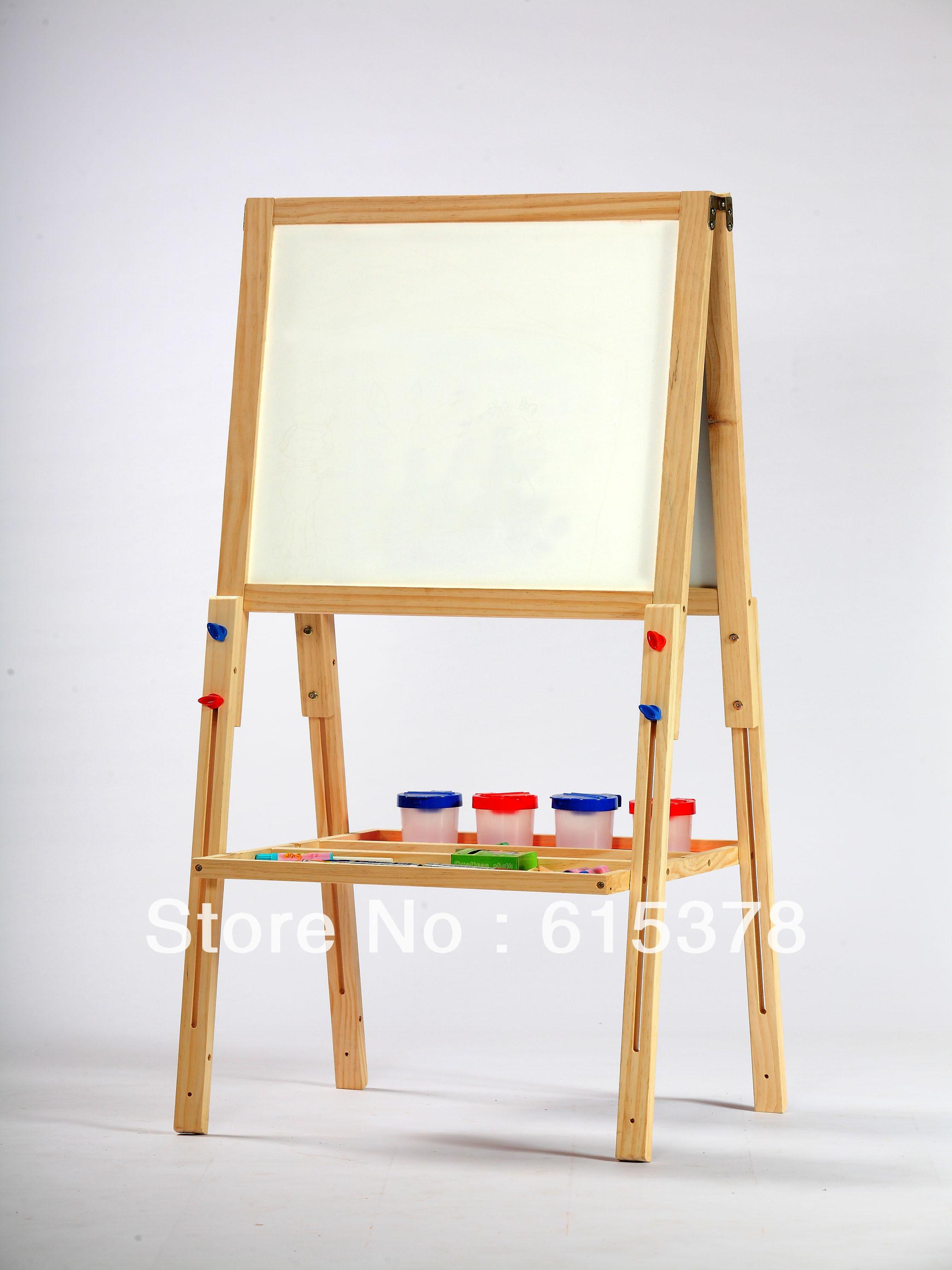 Per bambini in legno cavalletto in legno a doppia faccia tavolo da disegno in legno per - Il tavolo da disegno ...