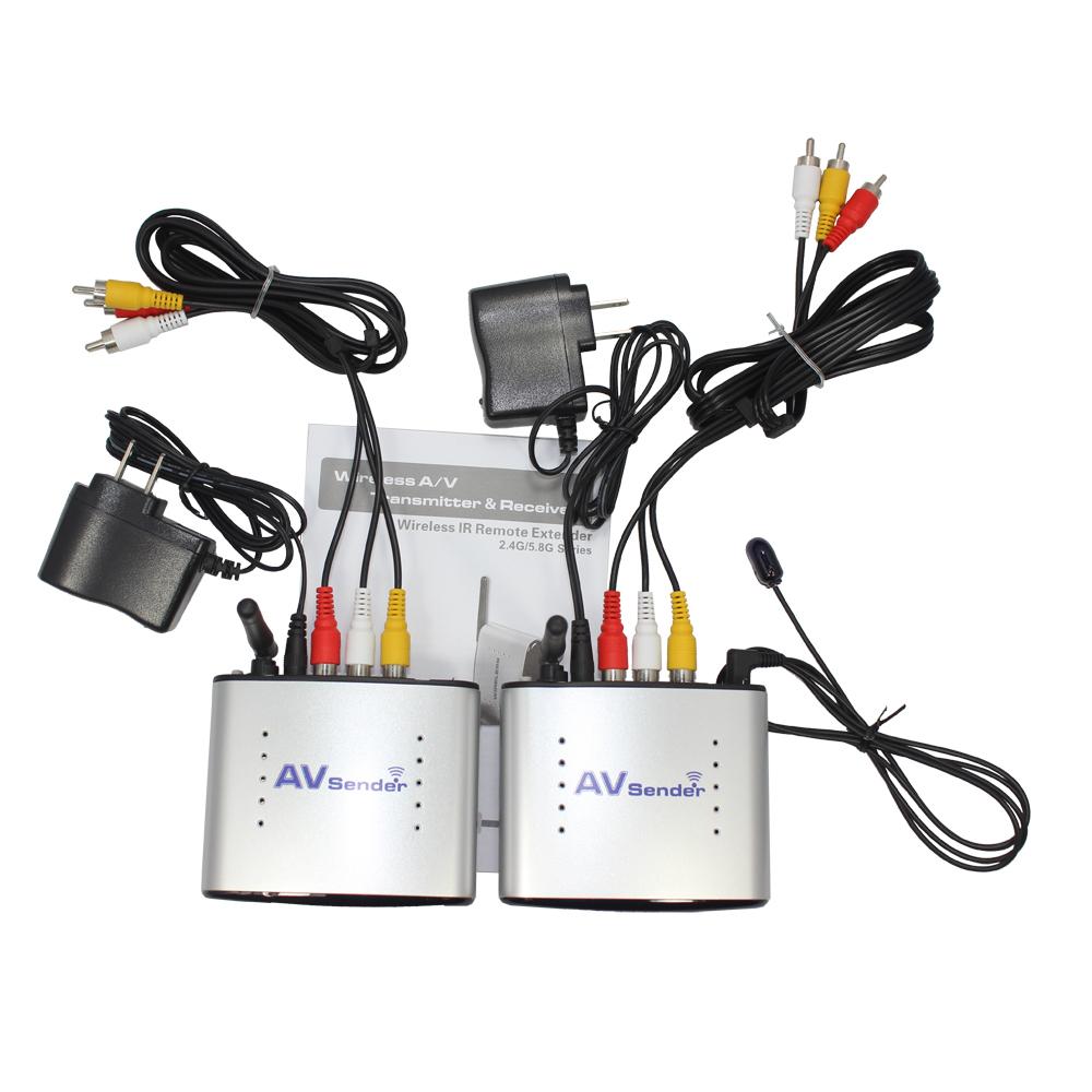 New 150M 2.4G Wireless A/V TV Audio Video Transmitter & Receiver PAT-220 IR Remote Extender(China (Mainland))