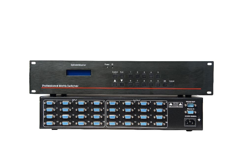 16X16 VGA matrix switcher VGA matrix switcher 16X 16 VGA matrix switcher 16 ins 16 outs VGA matrix switcher(China (Mainland))