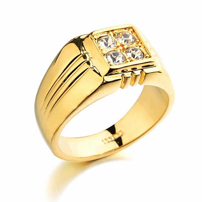 HTB18t8 KpXXXXX6apXXq6xXFXXXD - Brand TracysWing Rings for men Genuine Austria Crystal 18KRGP Gold Color Fashion wedding ring New Sale Hot #RG90044