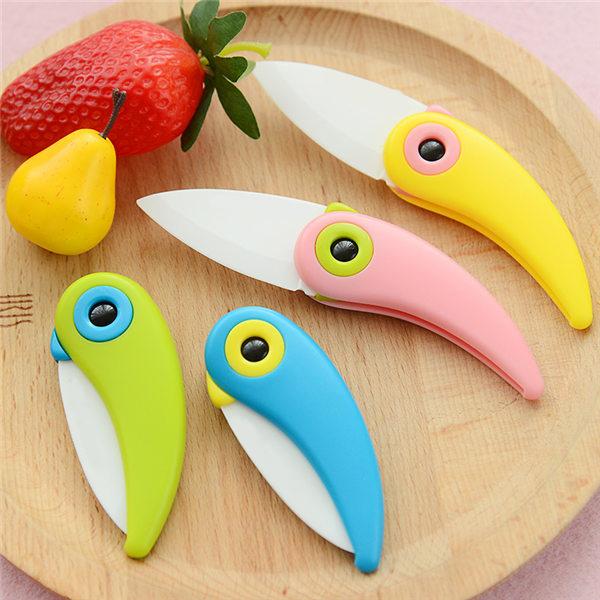 FREE SHIPPING Mini Bird Ceramic Knife Gift Knife Pocket Ceramic Folding Knives Kitchen Fruit Paring Knife With Colourful(China (Mainland))