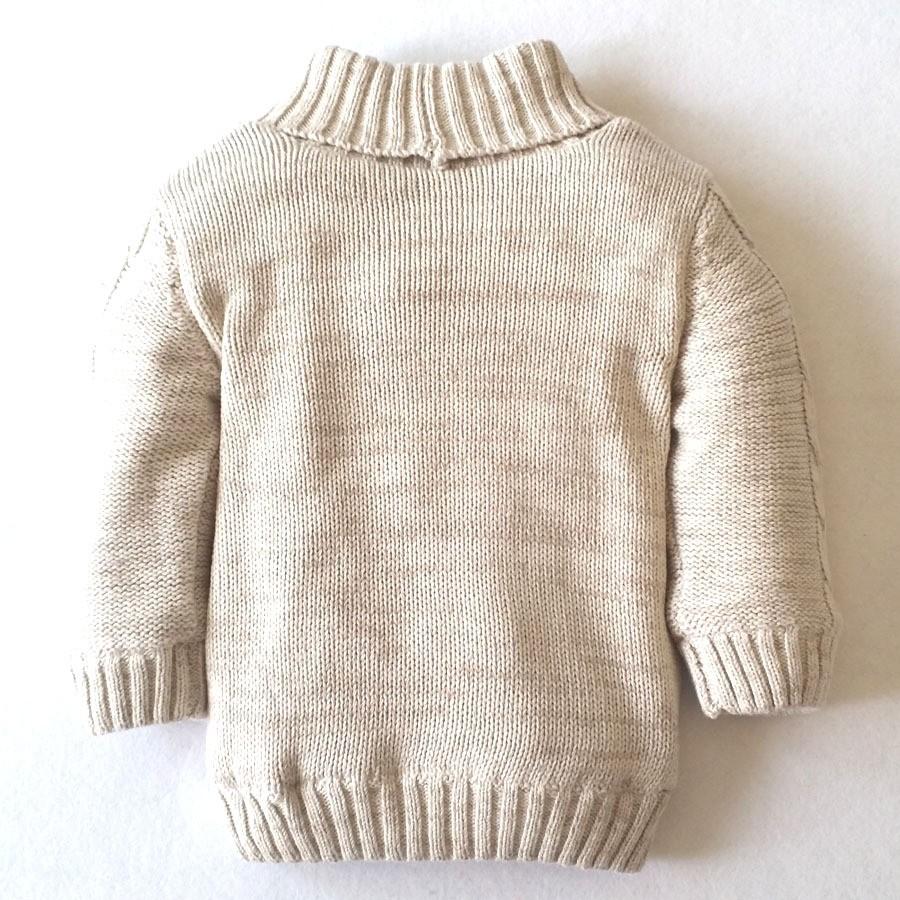 Compre Chicos Cardigan Tejer Patrón Primavera Grueso Suéter De ...