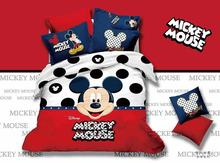 mickey mouse  comforter set black polka dot  duvet cover 100% cotton bedclothes twin full queen king size quilt cover 4/5pcs hot(China (Mainland))