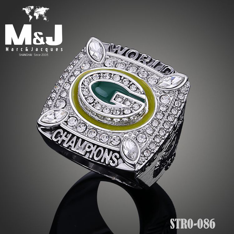 2011 National Football League Green Bay Packers Super Bowl Aaron Rodgers replica Chamberlain replica championship rings STR0-086(China (Mainland))