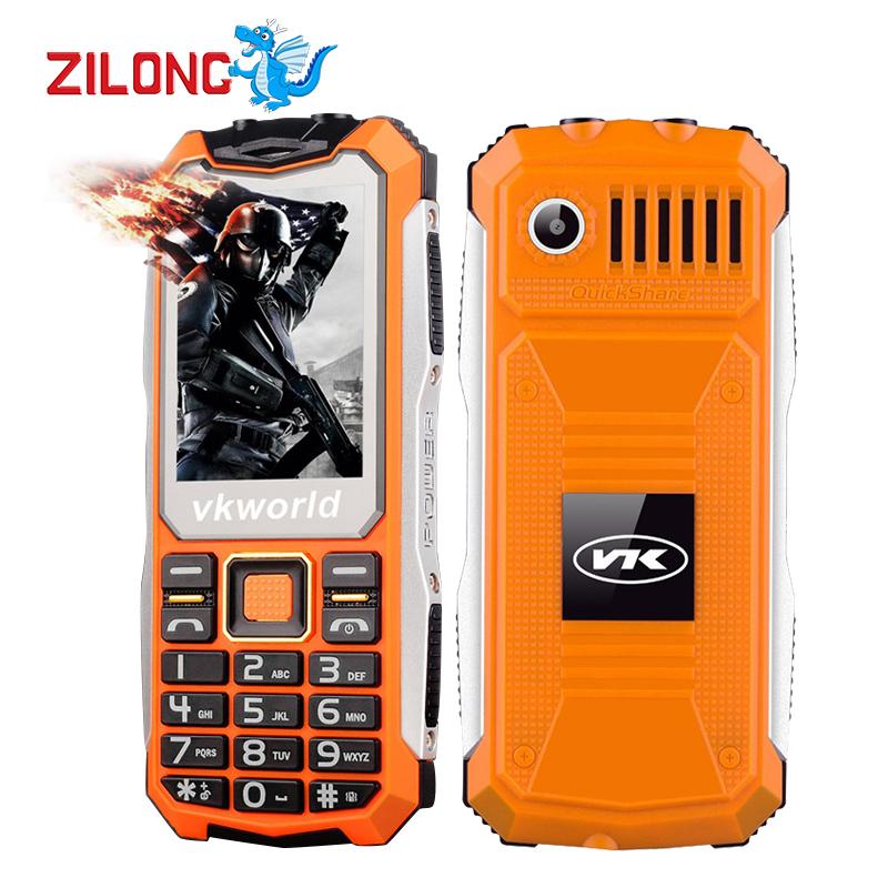Original VKworld Stone V3S Daily Waterproof Phone Dustproof ShatterProof 2200Mah Long Standby Big BOX Speaker Dual LED Lights(China (Mainland))