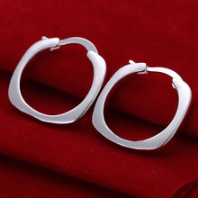 Earrings Silver Plated Earrings Silver Fashion Jewelry Earrings Men Jewelry Wholesale Free Shipping apqo LE123(China (Mainland))