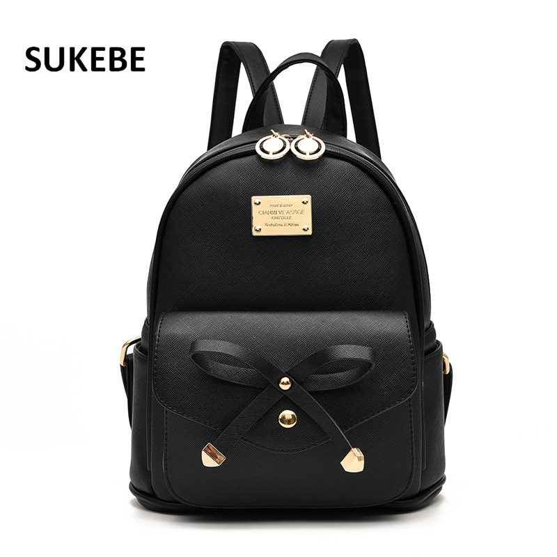 2017 New Women Backpack PU Leather Lady Fashion Backbags Cute School Bags For Teenager Girls Packbag(China (Mainland))
