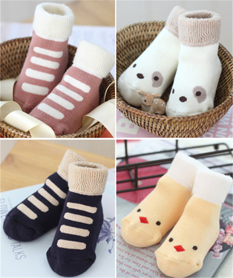 Warm soft baby socks new born baby boots cotton socks autumn winter