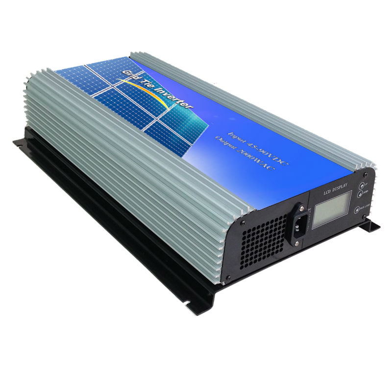 MAYLAR@2000W Grid Tie Power Inverter Pure Sine Wave inverter 2KW 45-90V DC to AC 220Vac Solar grid tie Inverter with LCD display(China (Mainland))
