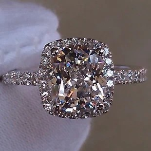 Simulated Wedding Ring Sets