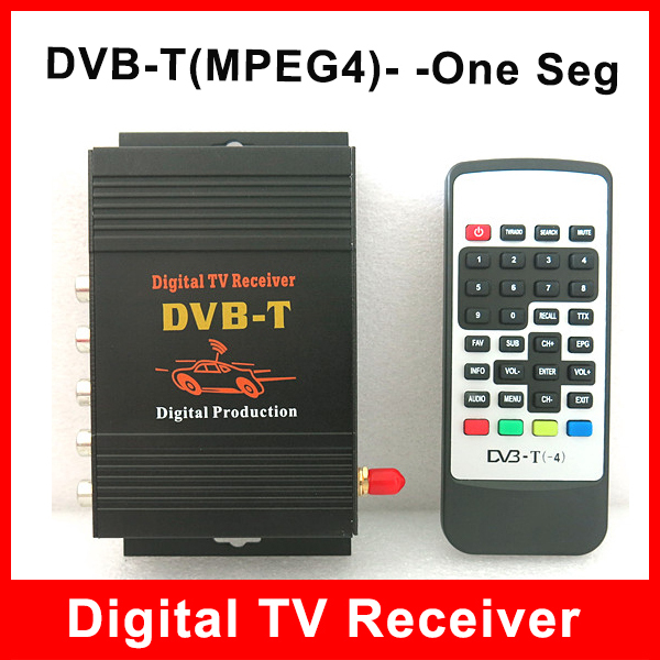 In Car DVB-T MPEG4 Digital TU Tuner Receiver with One Seg Antenna Compatible with DVB-T(SD)MPEG2 and DVB-T(HD) MPEG4 AVC/H.264
