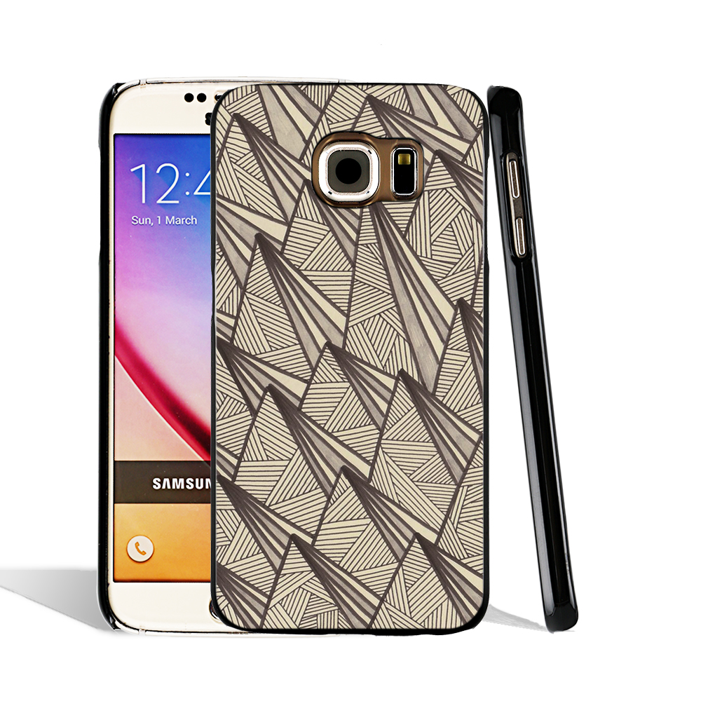 07846 Triangle Egytian Fabric cell phone case cover for Samsung Galaxy S7 edge PLUS S6 S5 S4 S3 MINI(China (Mainland))