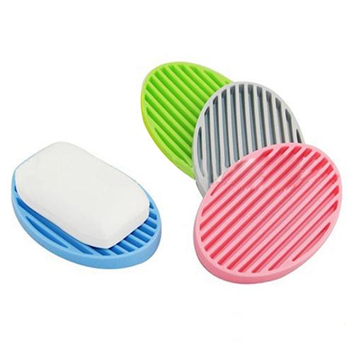 Creative Silicone Flexible Soap Plate Holder Bathroom Toilet Soapbox Soap Dish Store 48(China (Mainland))