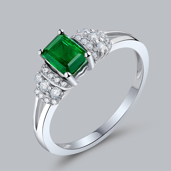 aliexpress buy elegance emerald cut 4x6mm solid 18kt