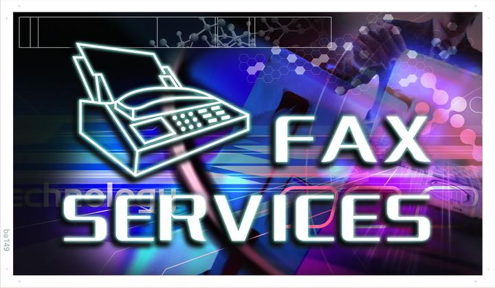 ba149 Fax Services Banner Shop Sign Wholesale Dropshipping(China (Mainland))