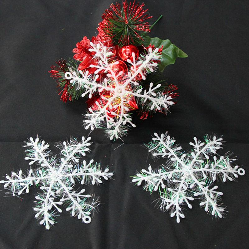 unidslote ventana de plstico blanco copo de nieve ornamento de navidad cm rbol de navidad de navidad para
