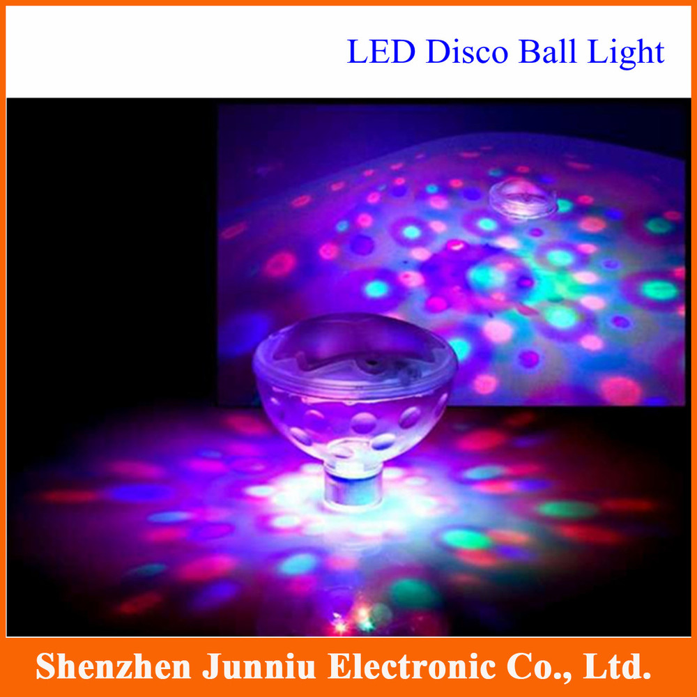 2015 New Water Bottom Show LED Disco Ball Multi Light Bath Hot Tub SPA Jacuzzi Decoration for the Pool Party Free Shipping(China (Mainland))