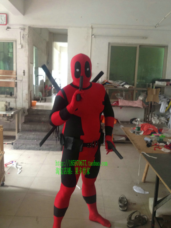 halloween cosplay Deadpool Costume adult with waist belt&amp;sword holderОдежда и ак�е��уары<br><br><br>Aliexpress