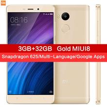 "Original Xiaomi Redmi 4 Pro 3GB RAM 32GB ROM Snapdragon 625 4100mAh Fingerprint ID 5.0"" Metal Body 13.0MP Redmi4 Mobile Phones(China (Mainland))"