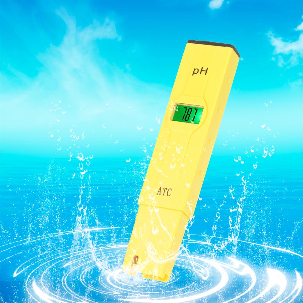 Pen temperature Compensation ATC LCD Acid aquarium Water Quality salt pool tester aqua medidor de pH Meter Acidometer Analyzer(China (Mainland))