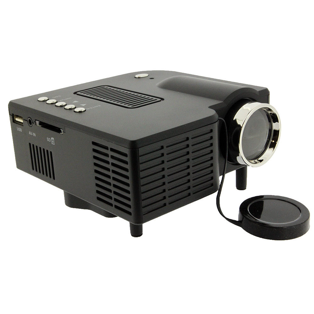 Mini portable hd led projector home cinema theater pc for Compact hd projector