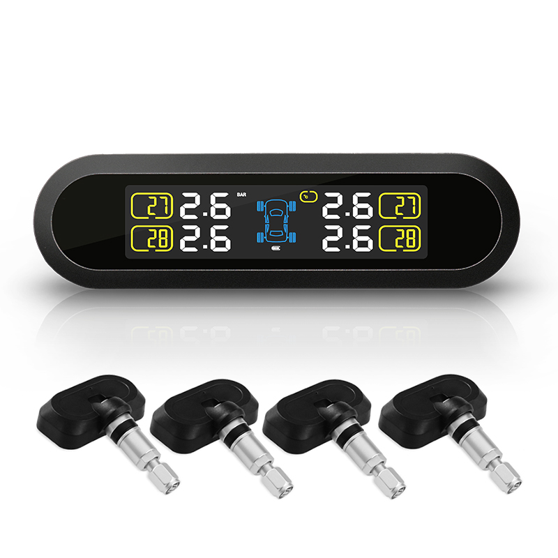 Solar Power Car Wireless Tire Pressure Monitoring Systems External Sensors TPMS(China (Mainland))