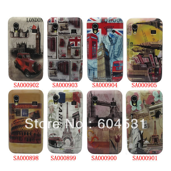 For Samsung Galaxy ACE S5830 Case Cover, Retro View Back Cover Hard Case 100 pcs/lot Free shipping