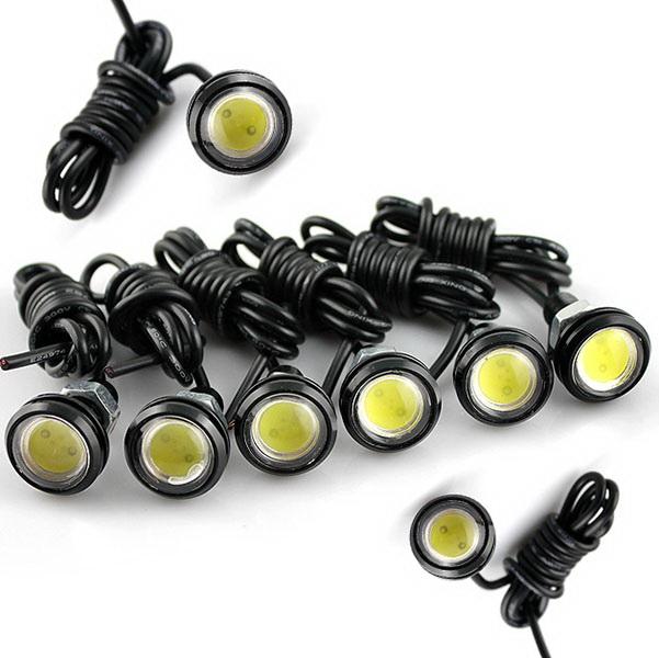 8 x 3W Auto Car Motor LED Eagle Eye DRL Tail backup Reversing Light lamp bulbs(China (Mainland))