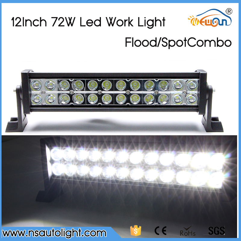 12 INCH 72W CREE LED LIGHT BAR CAR-STYLING OFF ROAD BAR FOR TRACTOR TRUCK BOAT MILITARY EQUIPMENT LED BAR LIGHT(China (Mainland))