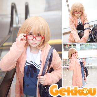 Beyond the Boundary Mirai Kuriyama Cosplay Costume Thickening Sweater+Dress+Uniform+Wig+Glasses+Stocking(China (Mainland))